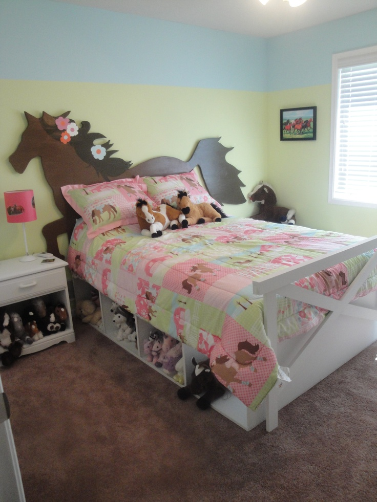 Equestrian Kid S Bedrooms Horse Bed Headboard Fence Footboard And Under