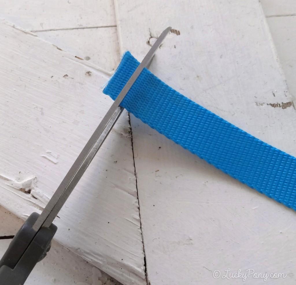 sharp scissors can cut nylon webbing