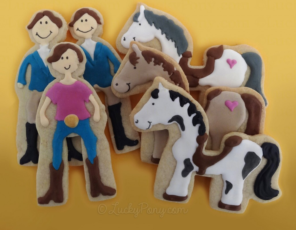 horse and rider sugar cookies