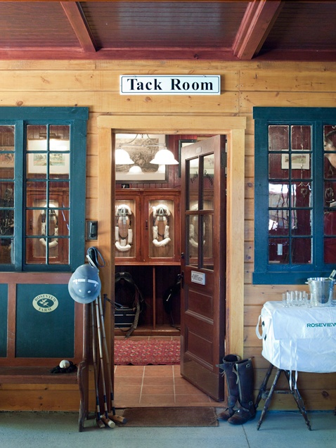 Tack Room With Windows Into Barn