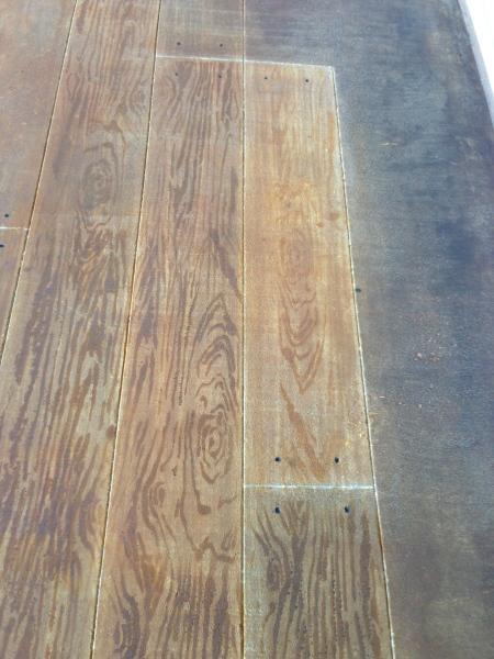 faux wood floor - painted concrete