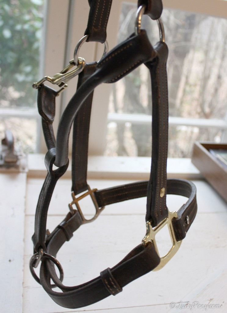 How to fix a horse halter with a broken square on the noseband.