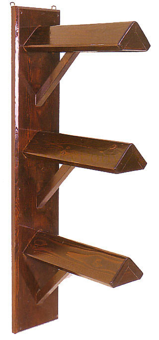 Solid Wood Wall Mount Saddle Rack Triple