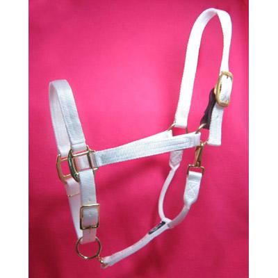 White Nylon Horse Halter