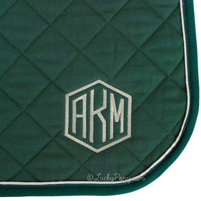 add monogram or custom embroidery to a high point saddle pad