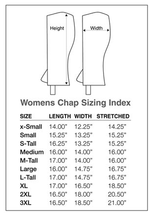 Image result for perris chap size chart