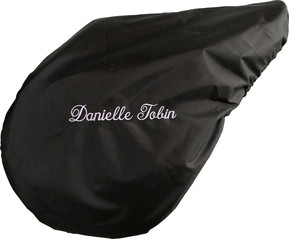 personalized embroidered english saddle cover